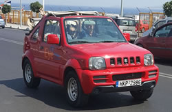 Suzuki Jimny jeep huren op Kreta, bij Eye Drive autoverhuur.